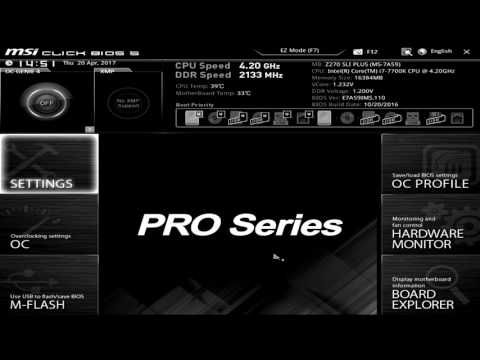 MSI Z270 SLI PLUS BIOS Overview