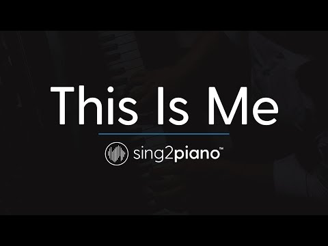 This Is Me (Piano Karaoke Instrumental) Keala Settle & The Greatest Showman Ensemble