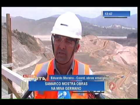 Samarco mostra obras na mina Germano após 1 ano de tragédia