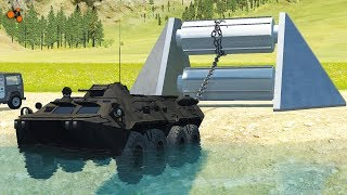 Beamng drive - Giant Winch Сrushes Сars