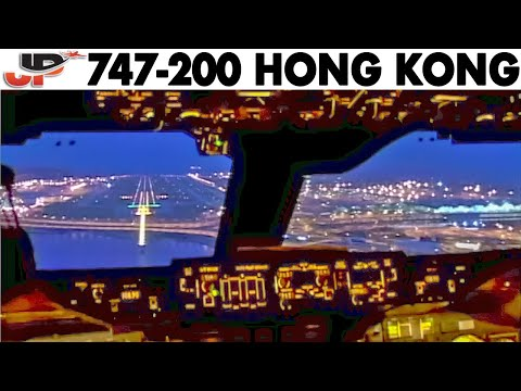 Fantastic 747 Dawn Approach into Hong Kong!