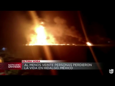 Al menos 20 muertos deja la explosión de un ducto de gasolina en México