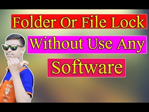 🔥How to Folder Lock Without Use Any Software Bangla Tutorial | Folder Locker Software | hide folder thumbnail