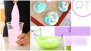 Fun DIY Kids Crafts (Unicorn Poop, Bouncy Ball, Bubbles)