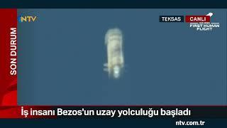 NTV | Uzaya tarihi uçuş: Milyarder iş insanı Bezos
