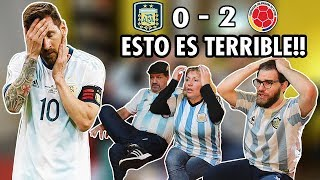 ARGENTINA vs Colombia 🤬😱 Reacción FAMILIA ARGENTINA | Copa America 2019