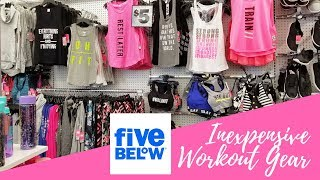 Five Below Come Shop With Me | Inexpensive Workout Gear Store Walk Through