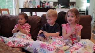 Zacchaeus Was a Wee Little Man | Lyla and Cousins Singing