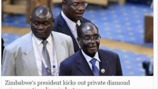 Zimbabwe Kicks Out Private Diamond Miners (Nationalizes Industry)