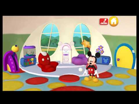 Mickey Mouse Color And Play Clup House Paint 3D Disney Junior Animated Coloring Book