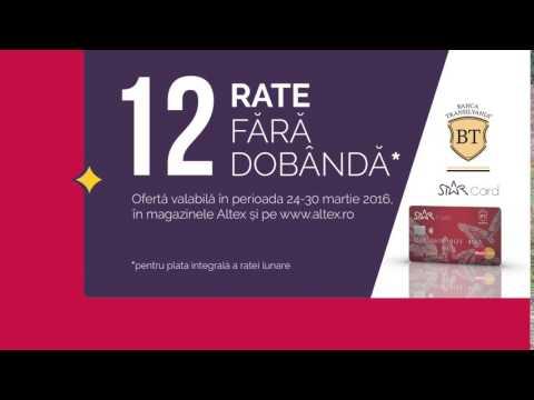 Reclamă ALTEX - 12 rate - card STAR Banca Transilvania - martie 2016
