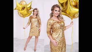 Золотистые платья для полных девушек - длинные и короткие фасоны