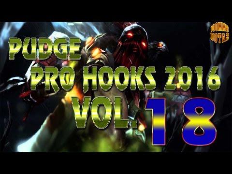 Dota 2 Pudge Pro Hooks 2016 - Weekly Hooks Vol-18