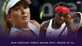 CoCo Vandeweghe vs. Sloane Stephens | 2018 Porsche Tennis Grand Prix First Round | WTA Highlights