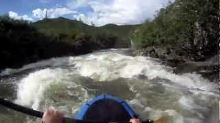 Delta River, Falls and canyon float Denali Highway Alaska with Alpacka
