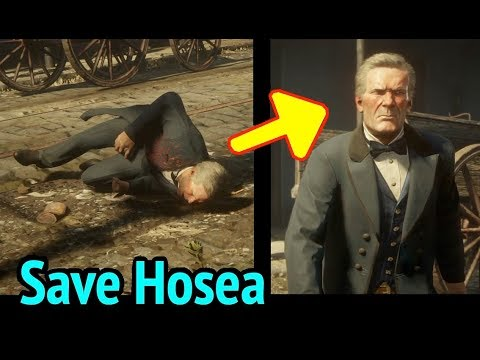 Saving Hosea with Za Warudo in Red Dead Redemption 2 (RDR2): Hosea Matthews is Saved