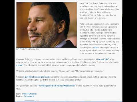 The Extortion  of Gov. David Paterson by President Obama and fellow thugs.