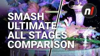 Super Smash Bros. Ultimate: All Returning Stages Graphical Comparison