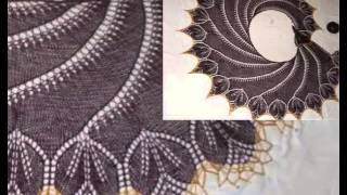 3 ������ �������! knitted shawls ����� � �������� ���