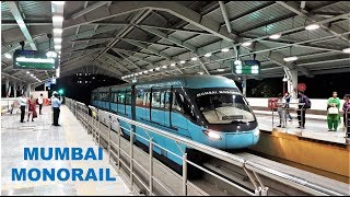 An Evening with the Mumbai Monorail - From Outside and the Driver's View Too!