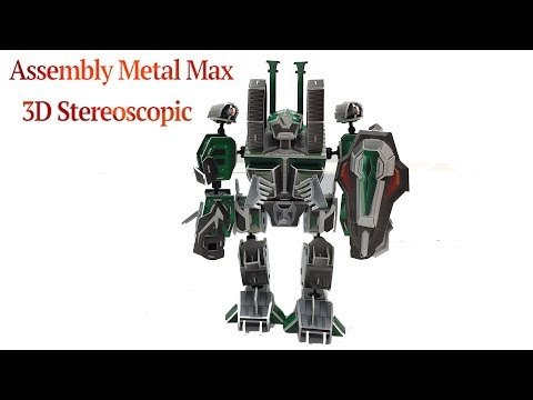 Assembly Metal Max 3D Stereoscopic Puzzle Trenches