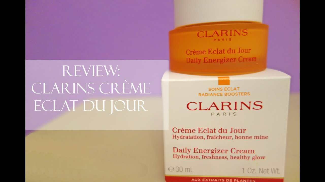 review clarins cr me eclat du jour youtube. Black Bedroom Furniture Sets. Home Design Ideas