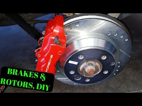 How To Porsche Cayenne Turbo Rear Brakes Rotors Sensors Diy
