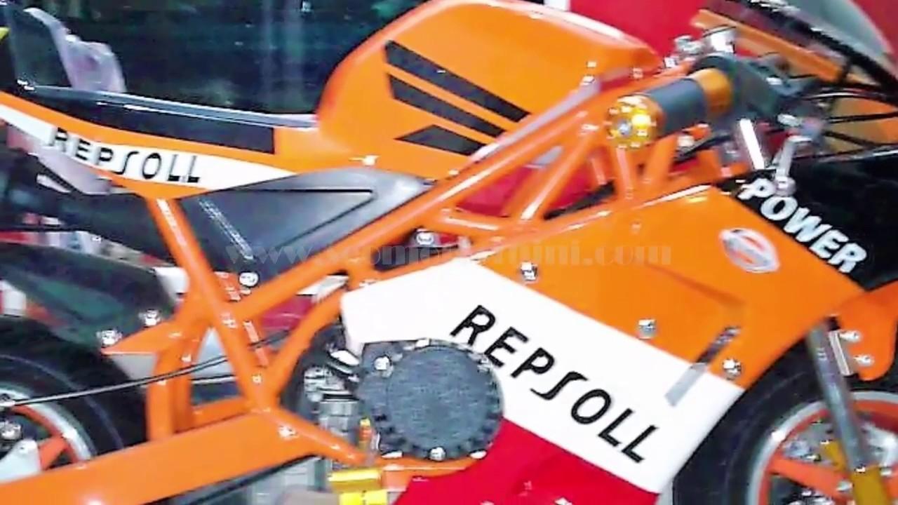 Motor Kecil MiniGP Livery Repsol 50cc 2t Depok - YouTube