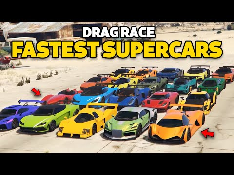 GTA V Online: Which is fastest Supercars | DRAG RACE PART 1