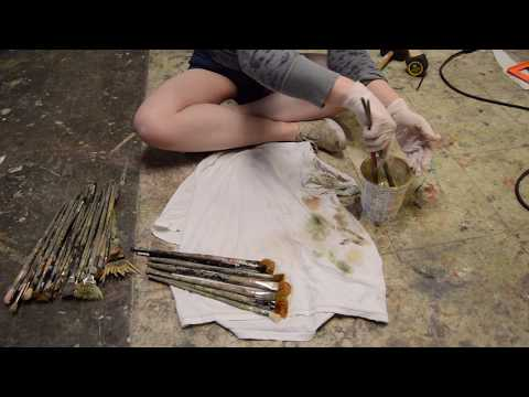 Cleaning Oil Painting Brushes