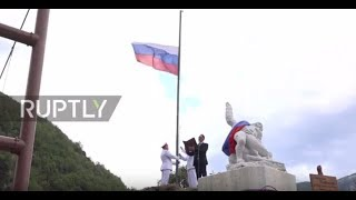 Italy  Monument to Russian officer killed in Palmyra unveiled in Vagli Sotto