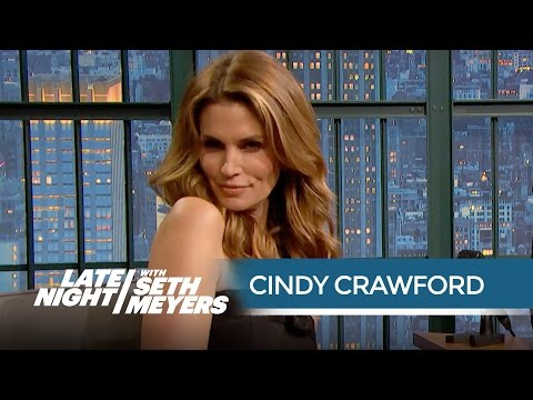 Cindy Crawford Looks Back at Some of Her Best and Worst Photos  Late Night with Seth Meyers