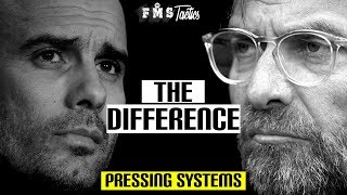 The Difference Between Klopp & Guardiola's Pressing Systems | Gegenpressing vs the 6-second rule