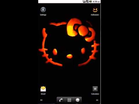 Hello Kitty Glow Live Wallpaper by Venturads.com
