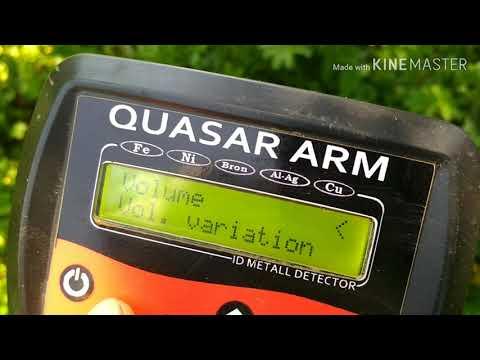 Як оприділяти великі і малі (чорні) сигнали на металошукачі КВАЗАР АРМ