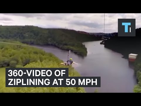 What It's Like To Zip Line At 50 mph