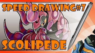 Speed Drawing: Scolipede (From Pokemon)
