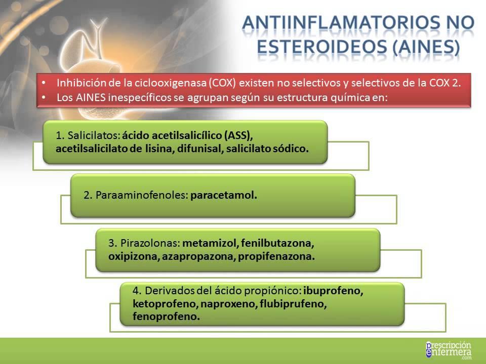antiinflamatorios esteroideos efectos colaterales