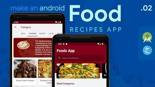 FOOD BY CATEGORY 🍕 — #2 Android Food App (Meal Recipes) // Java • MPV • Retrofit
