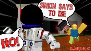 NOT DOING WHAT SIMON SAYS!! - ROBLOX FLEE THE FACILITY
