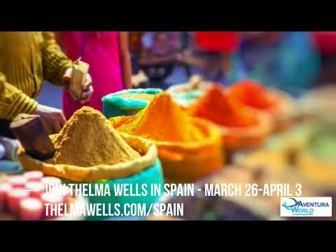Travel to Spain with Thelma Wells for her 78th Birthday. March 26-April 3.