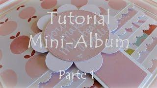 Scrapbooking Tutorial - Mini Album com cascata - Dia da Mãe | Parte 1