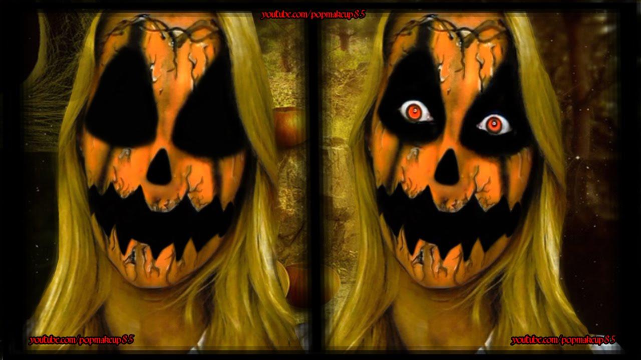 Makeup tutorial HALLOWEEN Pumpkin horror , Trucco HALLOWEEN Zucca horror ,  YouTube
