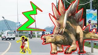 巨大な恐竜が現れた!!? 子供動画 Kids-Of-Ninja thumbnail