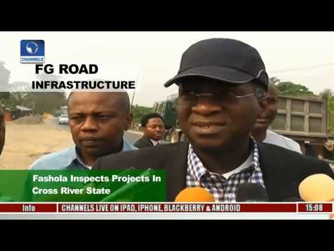 Fashola Inspects Road Infrastructure Projects In Cross River State