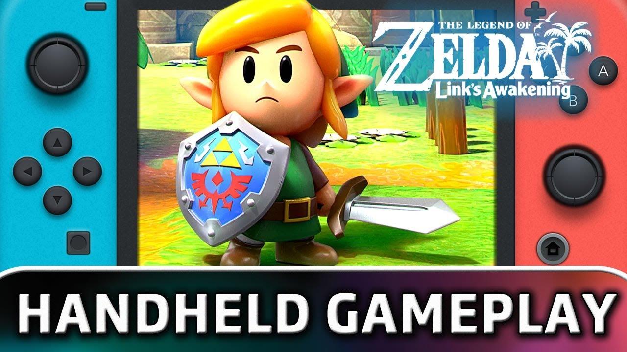 The Legend of Zelda: Link's Awakening | First 10 Minutes in Handheld MODE