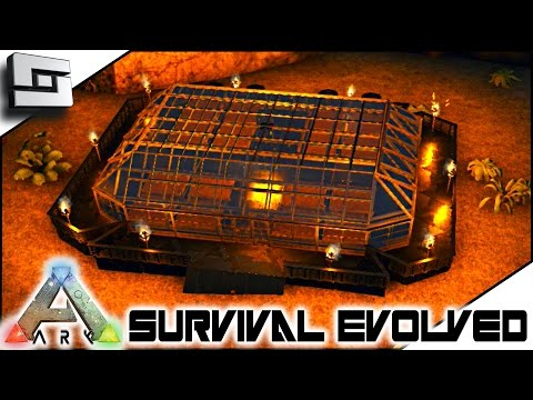 ARK: Survival Evolved - SUPER METAL GREENHOUSE! E8 ( Skies Of Nazca Map )