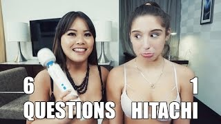 6 Questions & 1 Hitachi - with Abella Danger while sitting on a vibrator