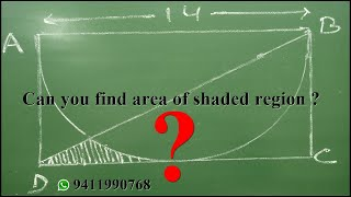 find the area of shaded region  Most important Question R B Classes