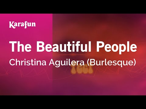 Karaoke The Beautiful People - Christina Aguilera *